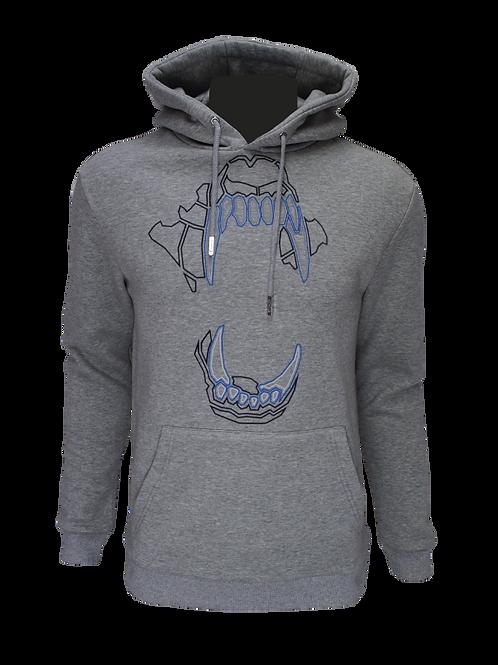 Grey Reflective Bite (Blue) Hoodie