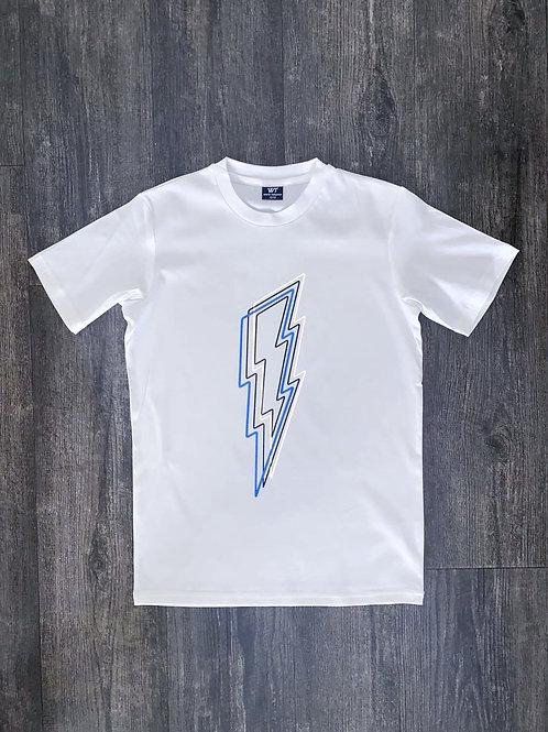 Kids White Reflective Bolt T-Shirt