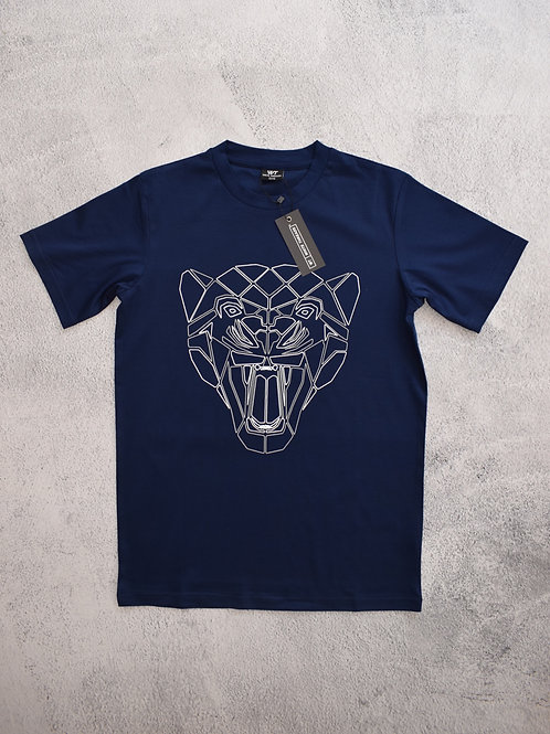 Kids Navy Reflective Puma T-Shirt