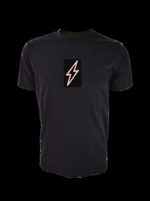 Black 3D Box Bolt 1 T-Shirt