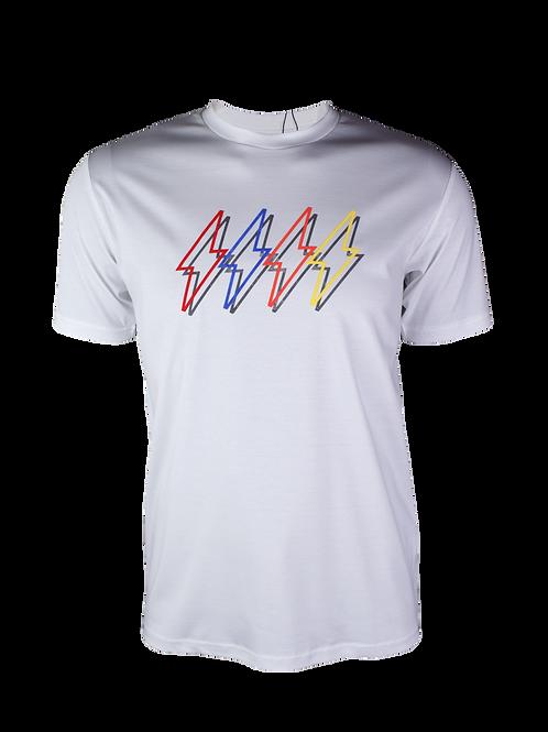 White Reflective 4 Bolt T-Shirt