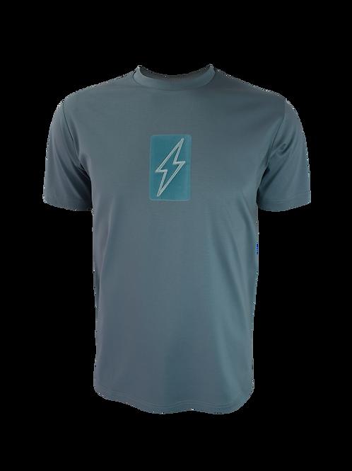Teal 3D Box Bolt T-Shirt