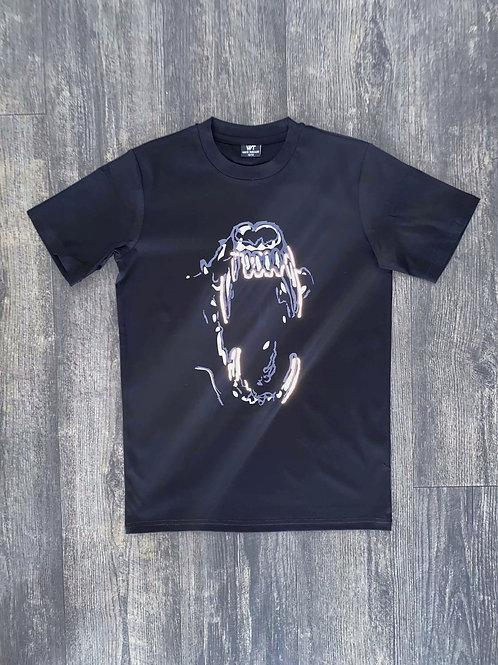 Kids Black Reflective Bite T-Shirt
