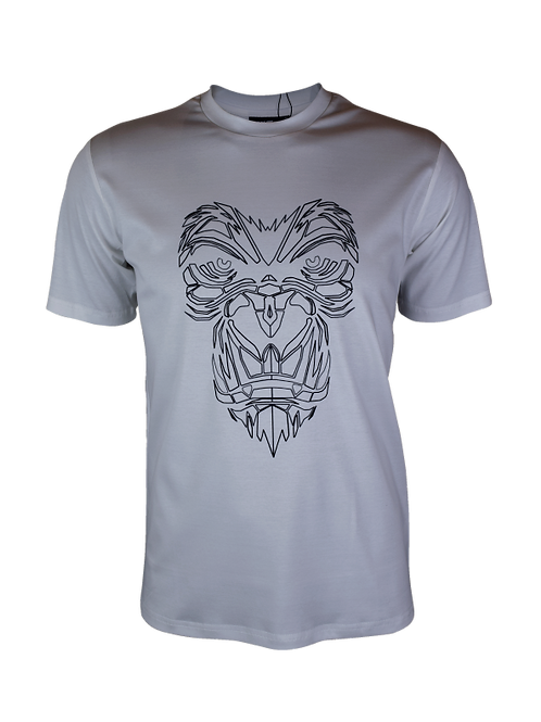 White Reflective Gorilla T-Shirt