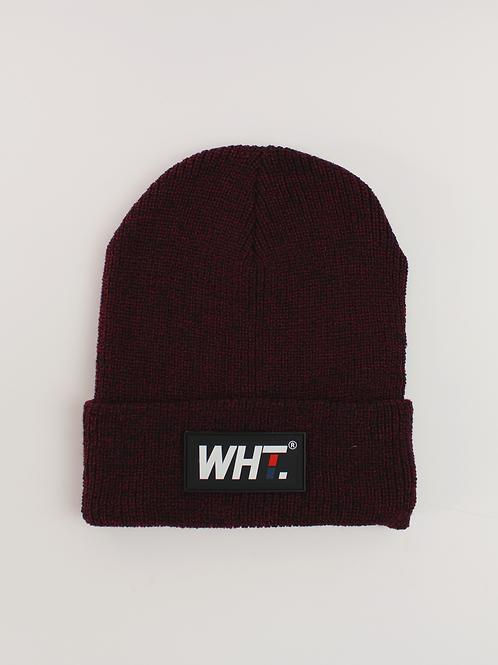 'Warm Maroon' WHT Logo Beanie