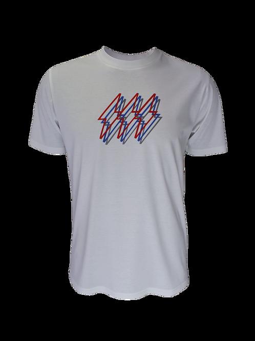 Kids White Reflective Triple Bolt T-Shirt
