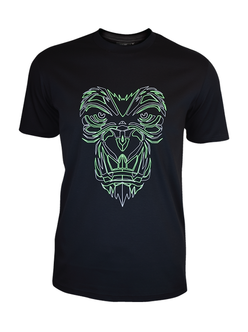 Black Reflective Gorilla T-Shirt (Neon)