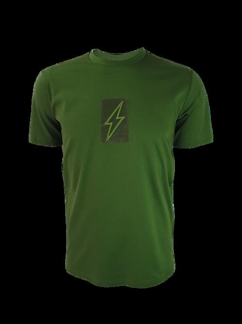 Green 3D Box Bolt T-Shirt