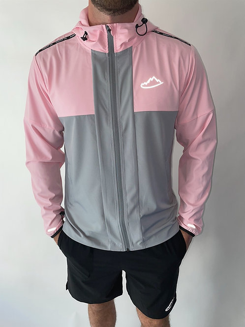 Pink / Grey Performance Windbreaker