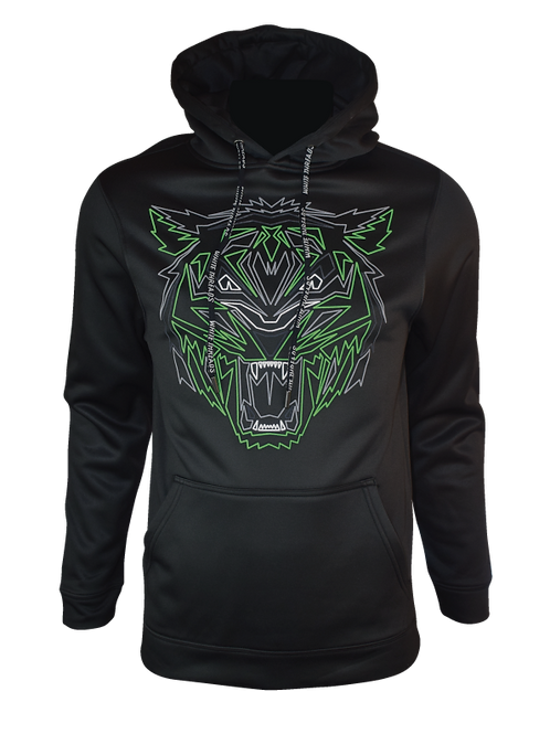 Black Reflective Tiger (Green) Hoodie