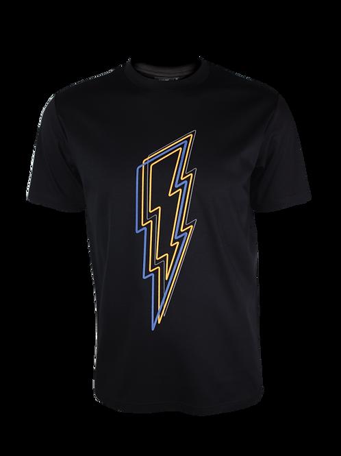 Black Reflective Bolt T-Shirt