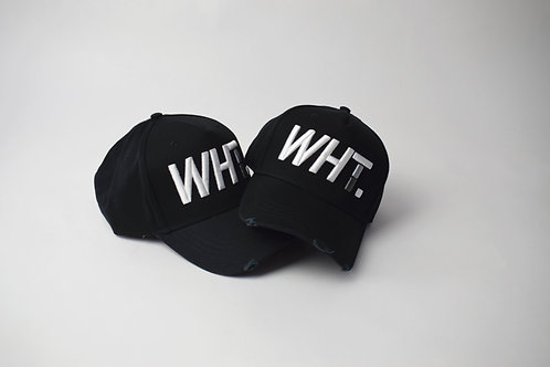 White on Black WHT Cap