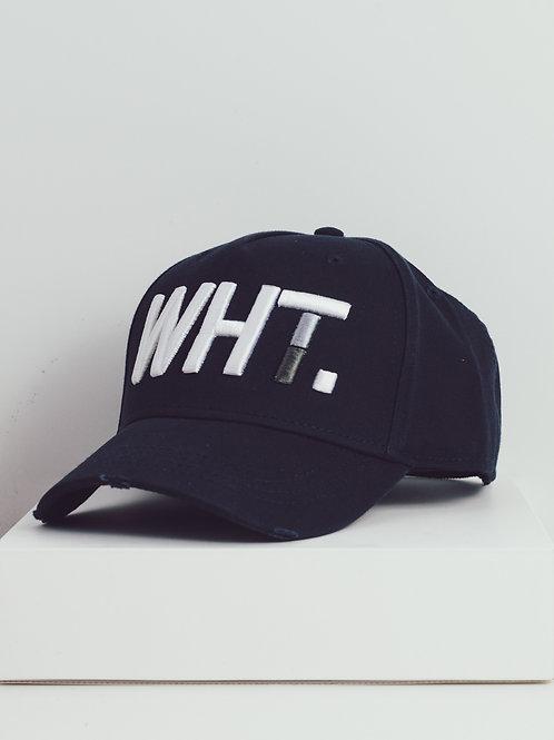 Navy WHT Cap