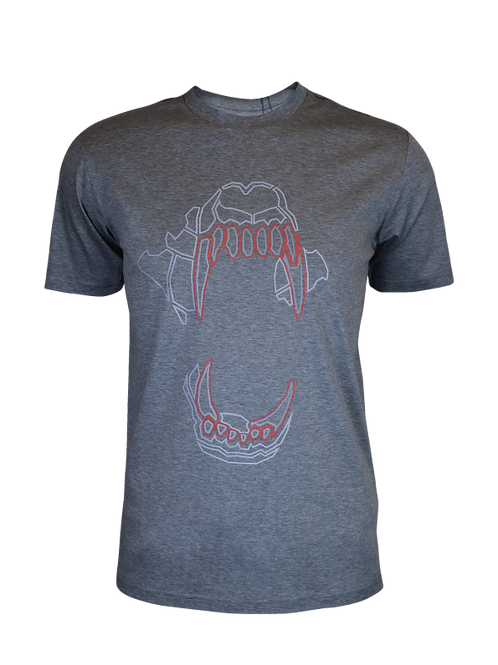 Grey / Red Bite T-Shirt