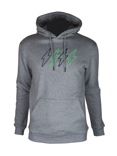Grey Reflective 4 Bolt Hoodie