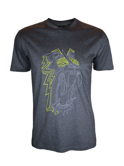 Kids Grey Reflective Baboon T-Shirt (OG Neon)