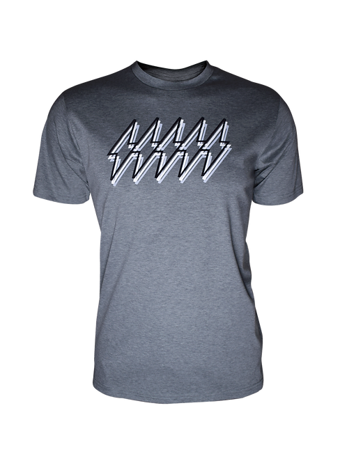 Grey Reflective 5 Bolt T-Shirt