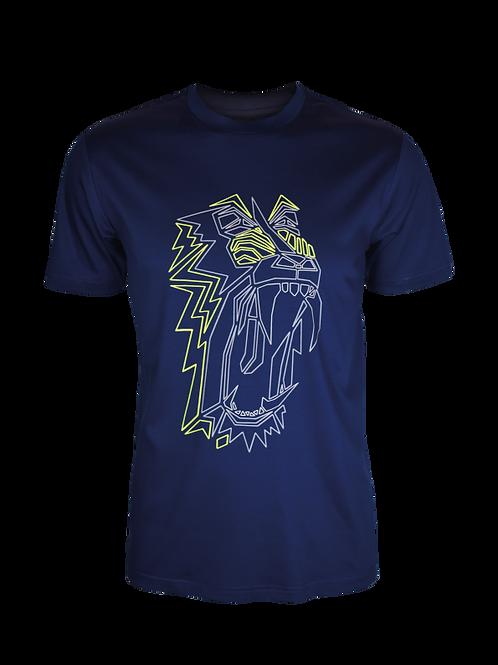 Kids Navy Reflective Baboon T-Shirt (OG Neon)