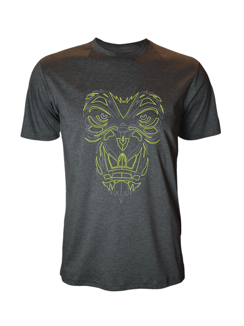 Grey Reflective Gorilla T-Shirt (OG Neon)