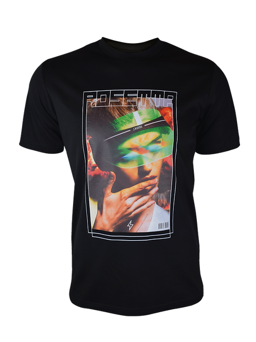 Black Rosetta T-Shirt