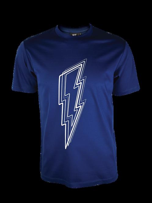 Navy Reflective Bolt T-Shirt