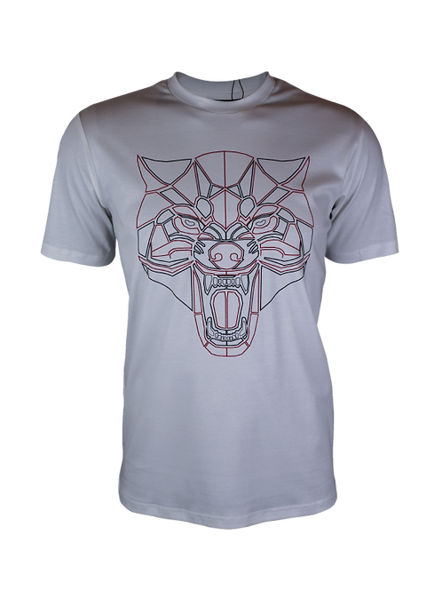 White Reflective Wolf T-Shirt