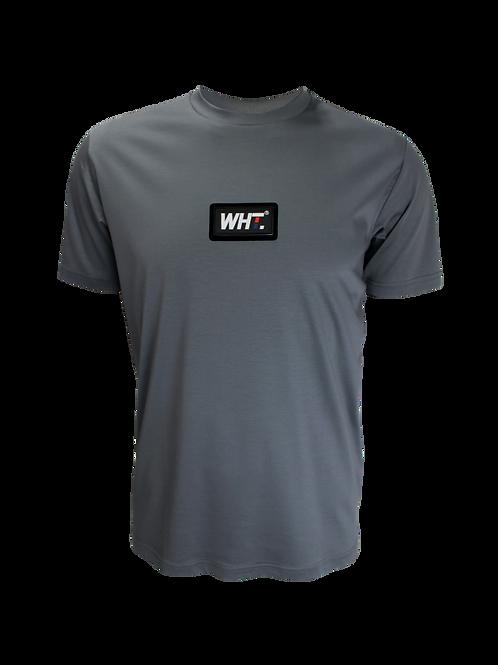 Steel Grey Rubber Logo T-Shirt