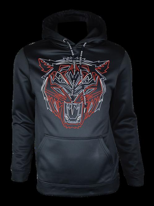 Black Reflective Tiger (Red) Hoodie