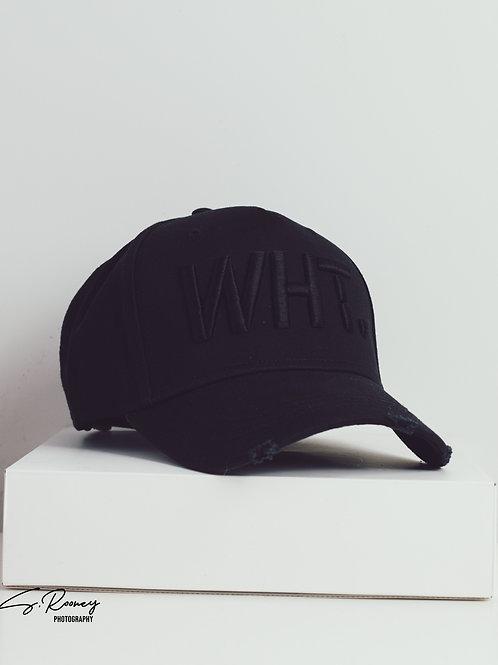 Black on Black WHT Cap