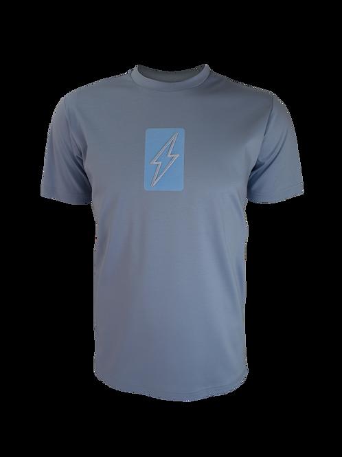 Sky Blue 3D Box Bolt T-Shirt