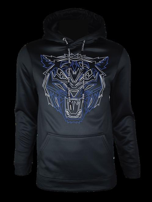 Black Reflective Tiger (Blue) Hoodie