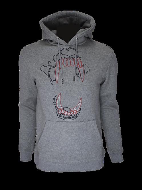 Grey Reflective Bite (Red) Hoodie
