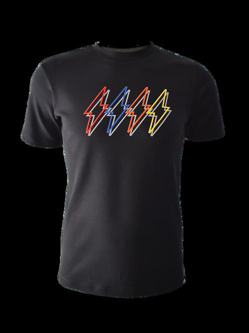 Black Reflective 4 Bolt (Heavy) T-Shirt
