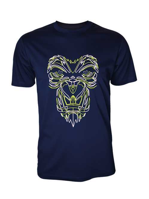 Navy Reflective Gorilla T-Shirt (OG Neon)
