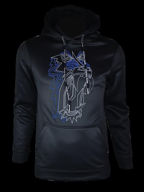 Black Reflective Baboon (Blue) Hoodie