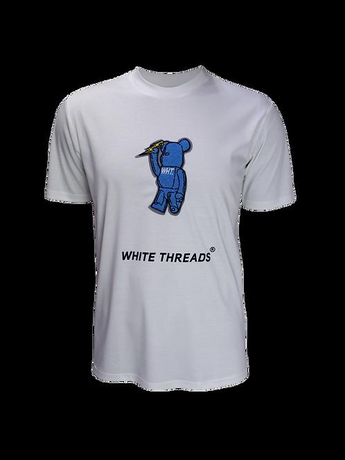 White 3D Bear T-Shirt
