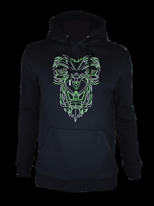 Black Reflective Gorilla Hoodie (Neon)
