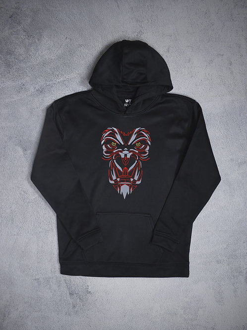 Kids Black Gorilla (Red) hoodie