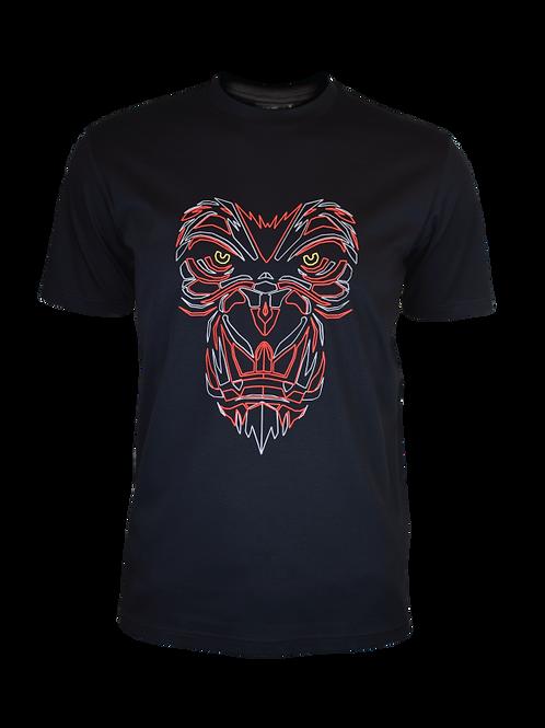 Black Reflective Gorilla T-Shirt (Red)