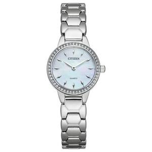 Ladies Silver Tone Swarvoski Crystal Quartz Watch
