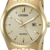 Gold Tone Stainless Steel Eco-Drive Watch