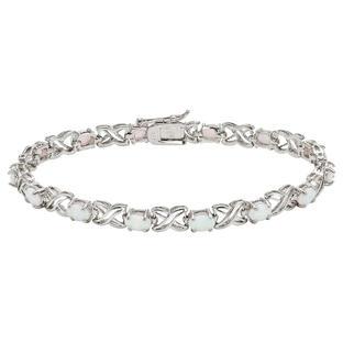 White Opal Tennis Bracelet