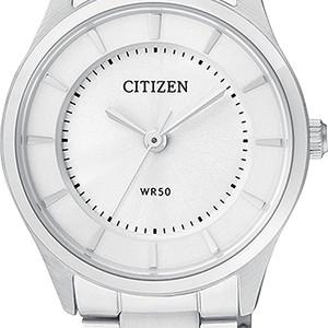 Ladies Simple Silver Tone Quartz Watch