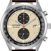 Silver Tone Chronograph Eco-Drive Watch