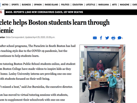 Boston Globe Feature: Paraclete helps students through pandemic