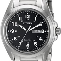Stainless Steel Garrison Sports Eco-Drive Watch