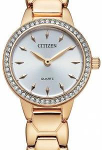 Ladies Rose Tone Swarvoski Crystal Quartz Watch