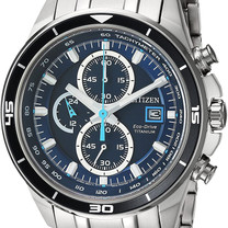 Stainless Steel Chronograph Sports Eco-Drive Watch
