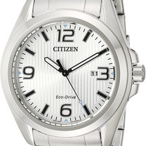 Stainless Steel Eco-Drive Watch