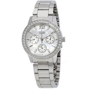 Silver Tone Ladies Chronograph Quartz Watch